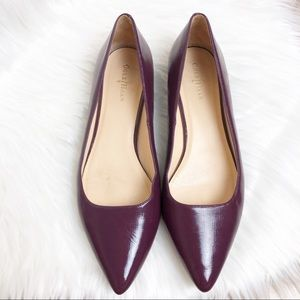 Cole Haan mulberry patent leather flats